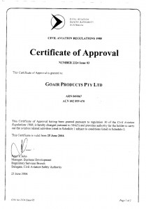 CASA Certificate of Approval